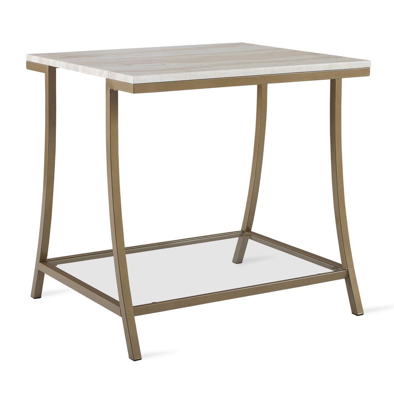 novogratz cecilia side table for living room soft brass