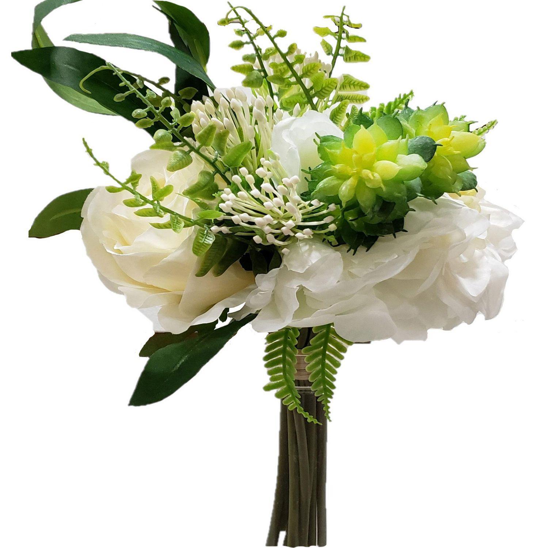 Dahlia Rose Succulent Bouquet White Walmart Canada