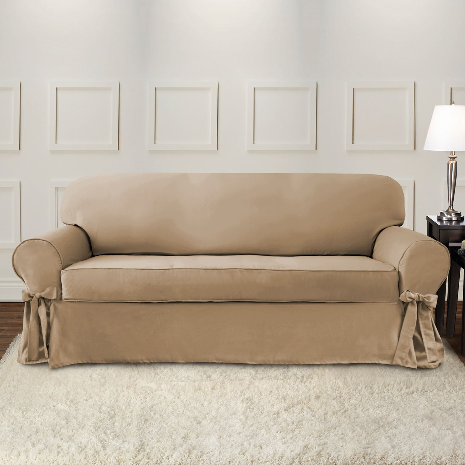 Sure Fit Portland Sofa Slipcover with Ties