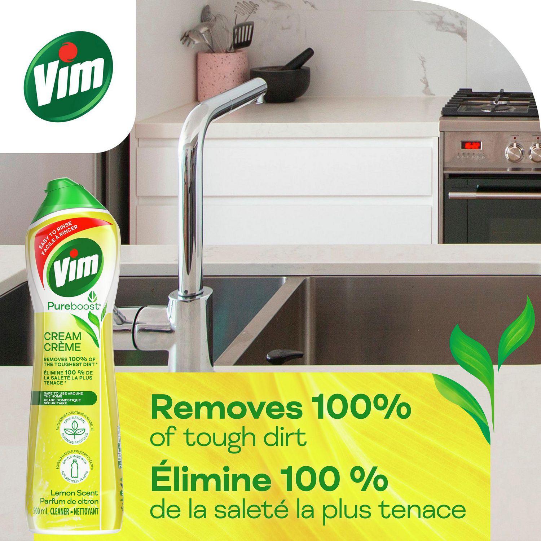 Vim Cream Cleaner Lemon 500 Ml Walmart Canada Grosir The Wet Brush Stained Glass Green