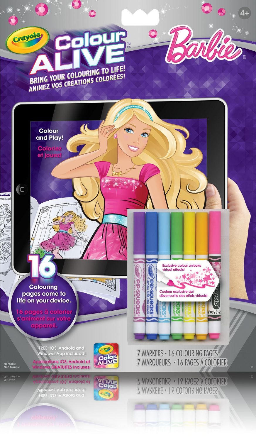 Where to buy shopkins coloring book - Crayola Colour Alive Barbie Colouring Book