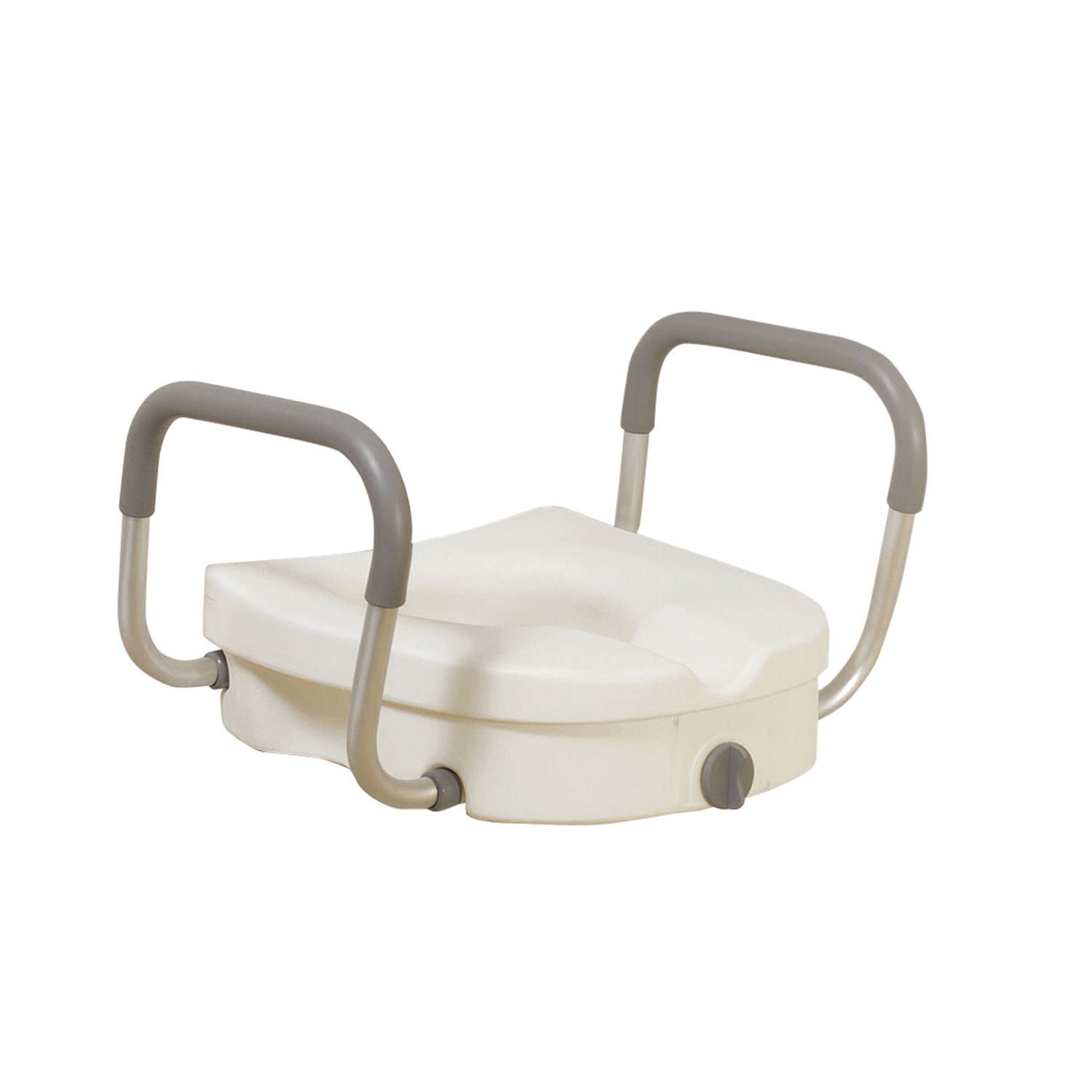 Swell Drive Medical Raised Toilet Seat With Removable Padded Arms Pdpeps Interior Chair Design Pdpepsorg