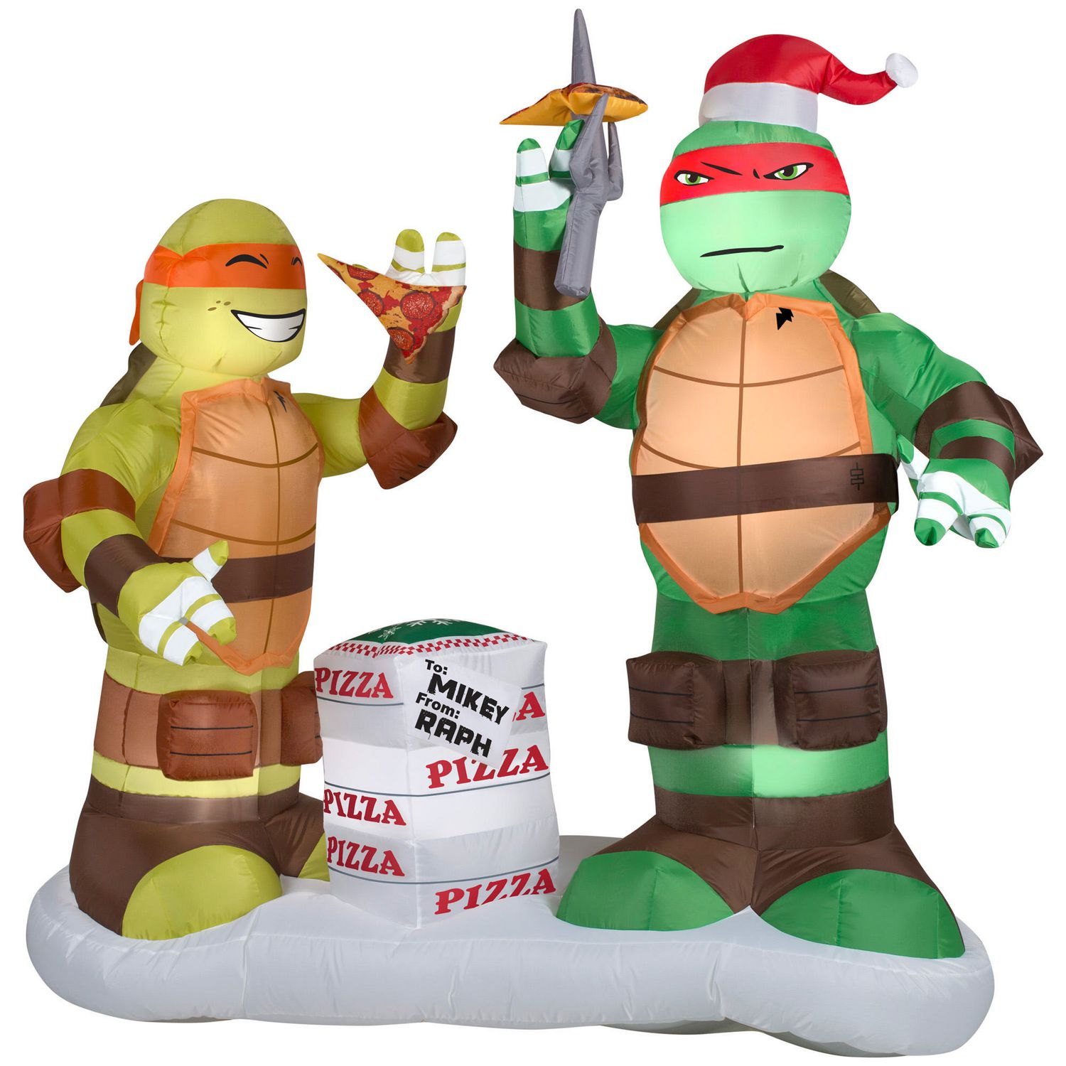 Airblown Self-Inflatable Raphael and Michelangelo with Pizza Scene ...
