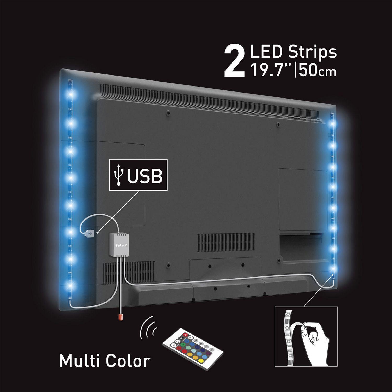 Barkan Usb Multi Color Mood Light For Tv 2 X 197 Inch 50cm Led L15 30r Wiring Schematic Strip Walmart Canada