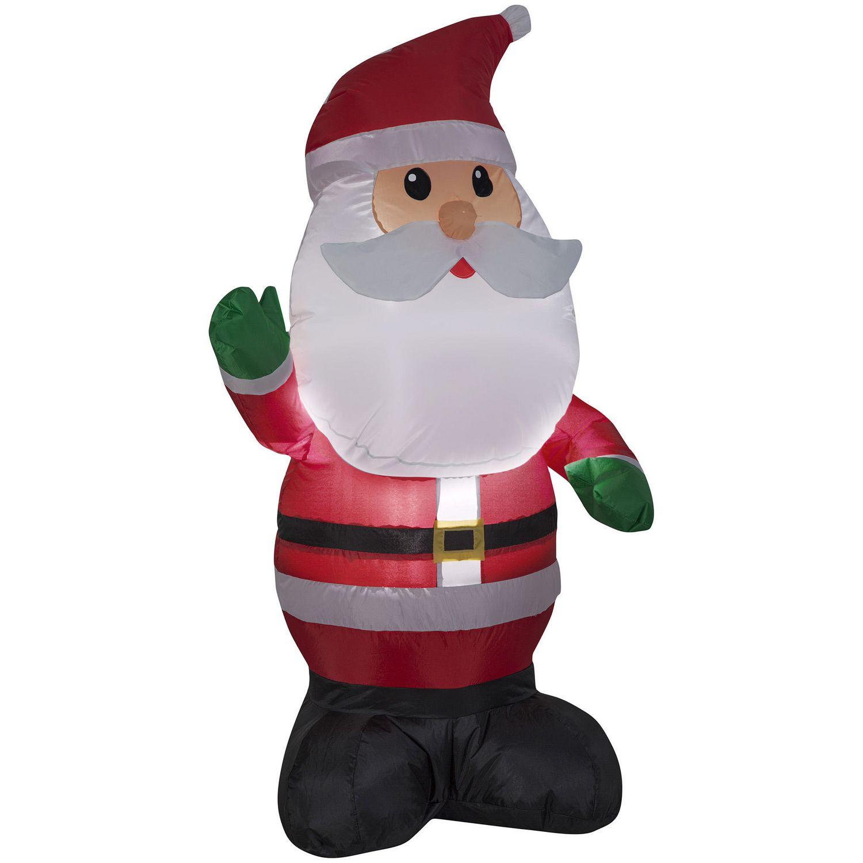 Gemmy Industries Santa 4\' Inflatable | Walmart Canada