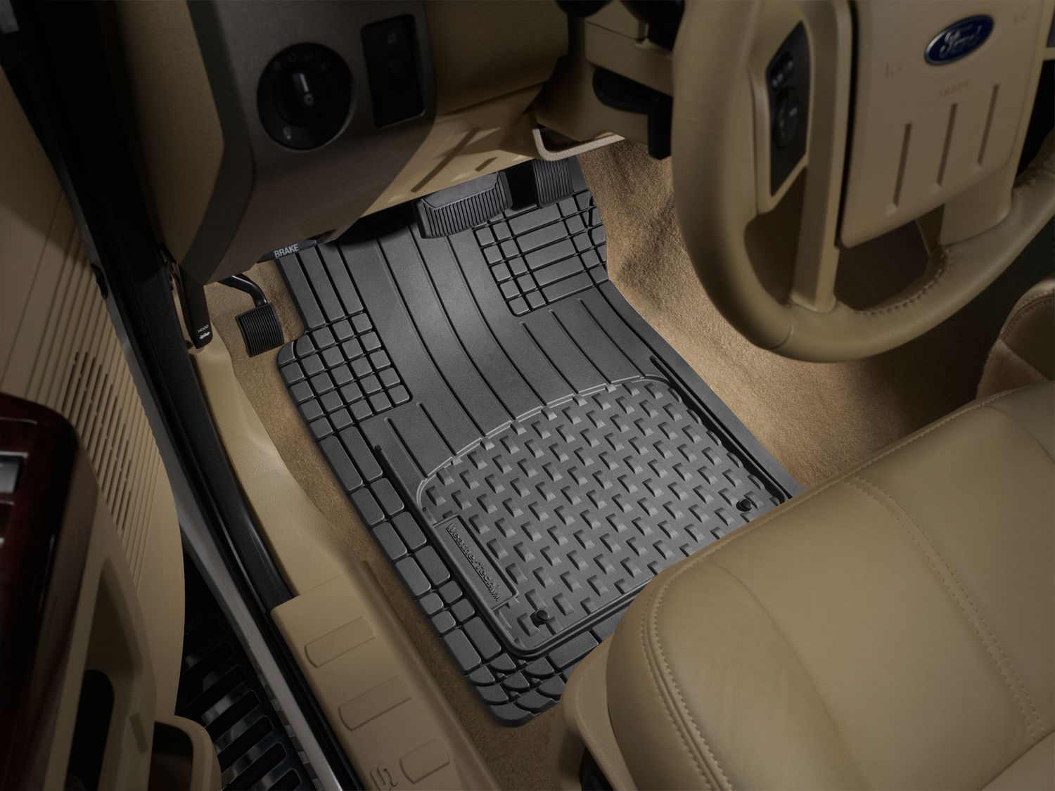 floorliner floor mat weathertech row itm for mats explorer black ford