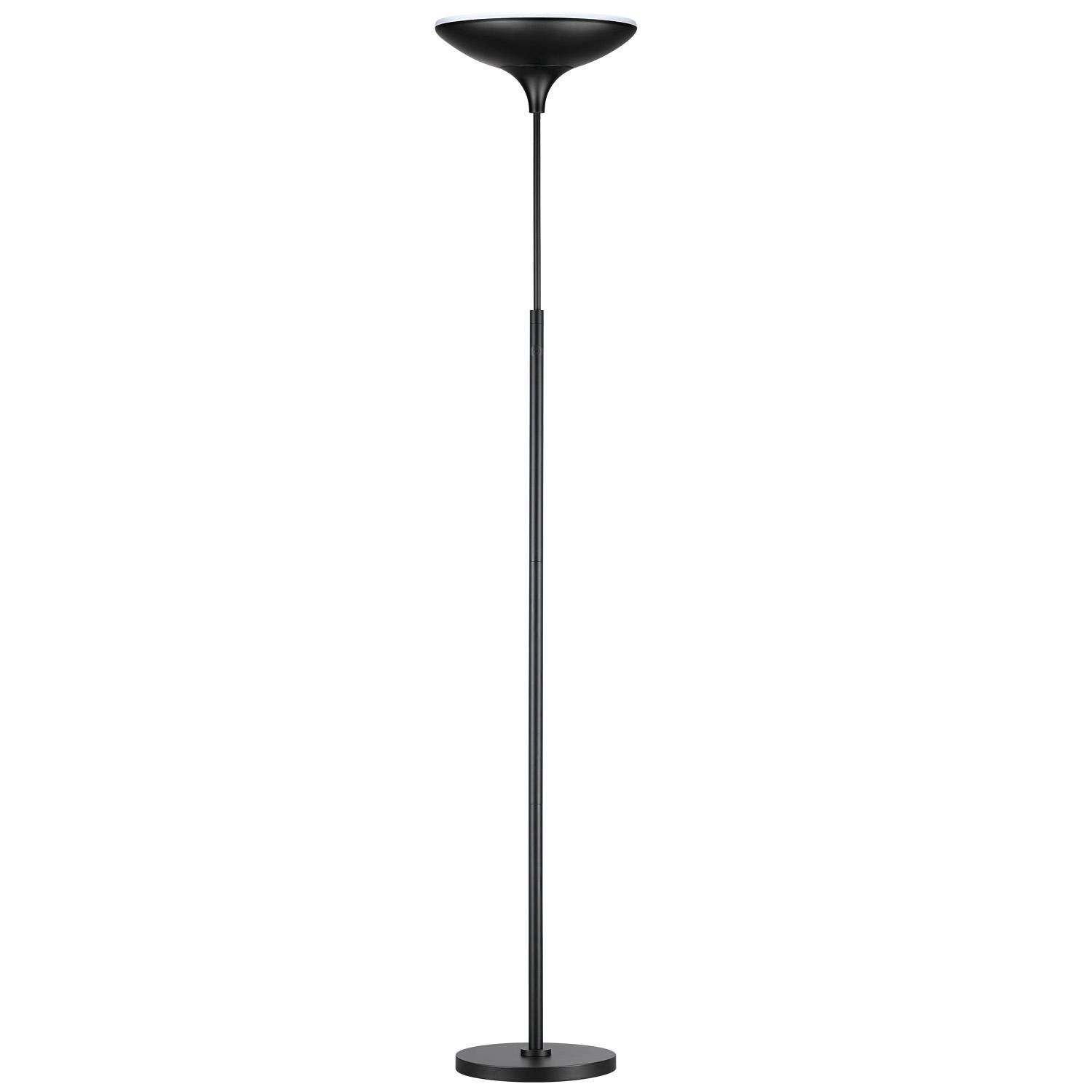 Globe Electric Energy Star Satin Led Floor Lamp Torchiere