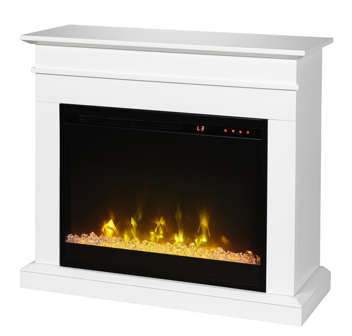 Jasmine Electric Fireplace Mantel By Cᶟ White Walmart Canada