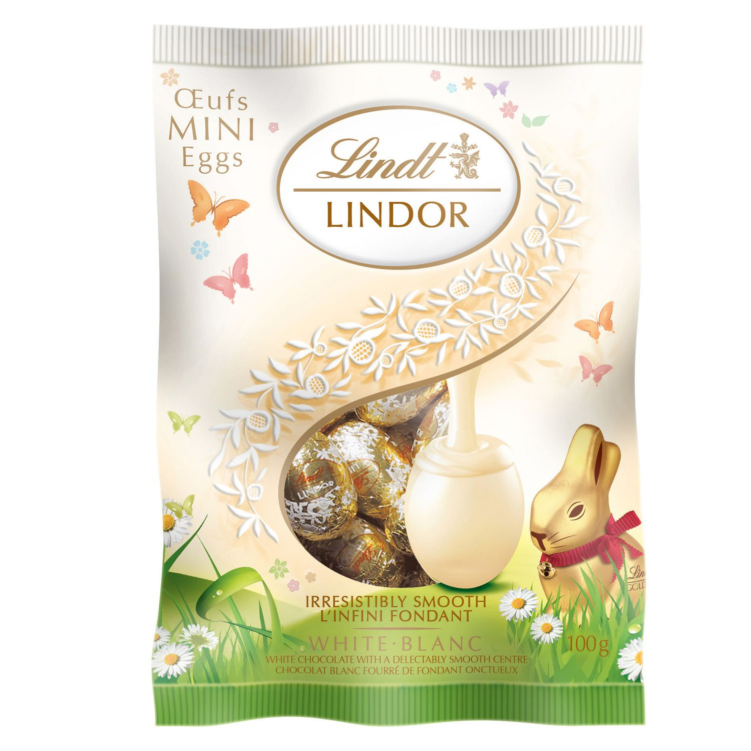 Lindt Lindor Mini Eggs White Chocolate With Delectably