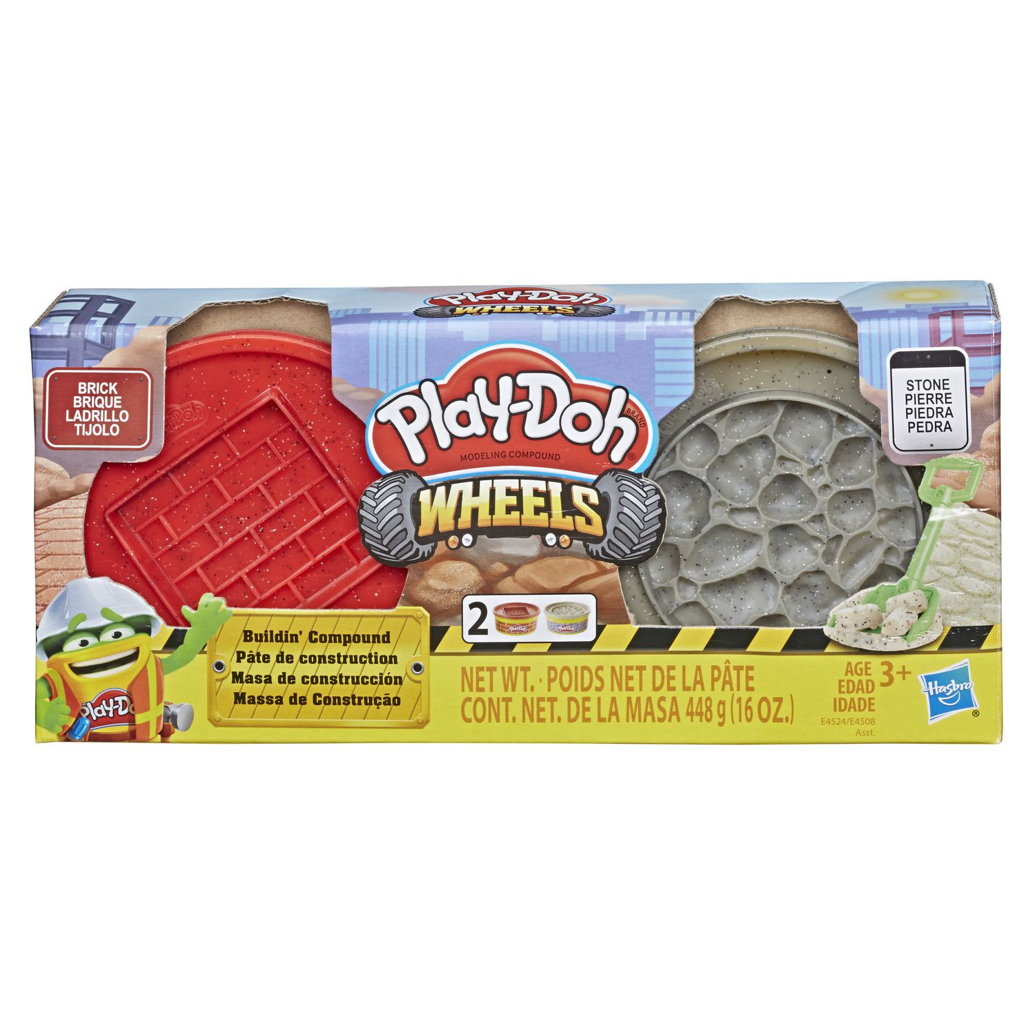 Play-Doh Wheels Brick and Stone Buildin Compound 2-Pack of 8-Ounce Cans Hasbro E4524