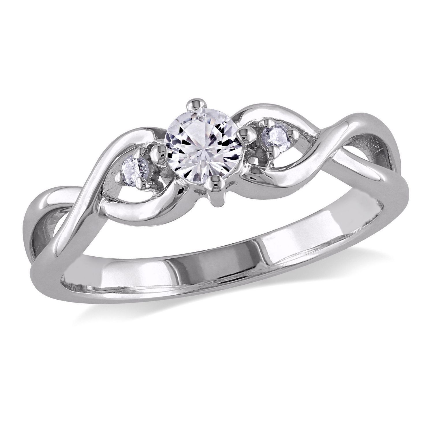 ring engagement accent with rings prong band diamond c four