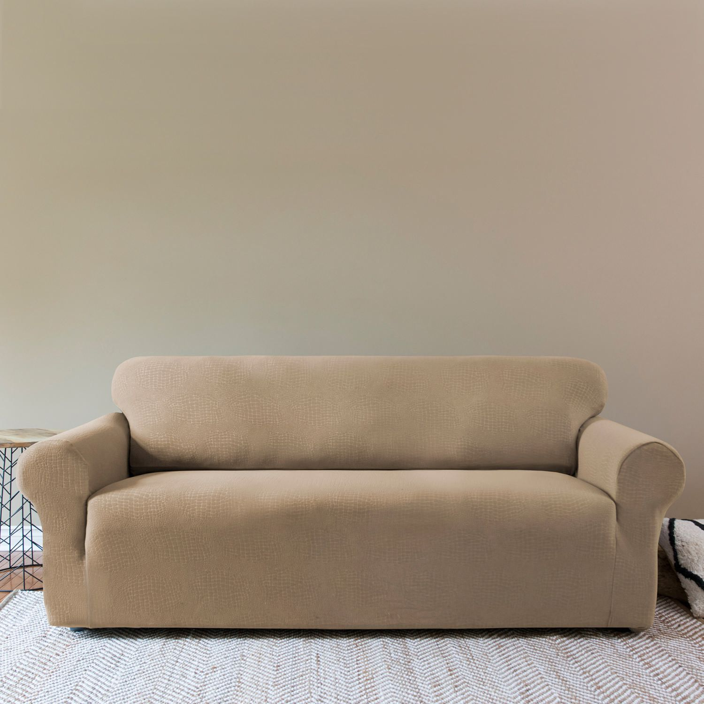 SureFit Sydney OnePiece Stretch Sofa Slipcover Taupe Walmartca