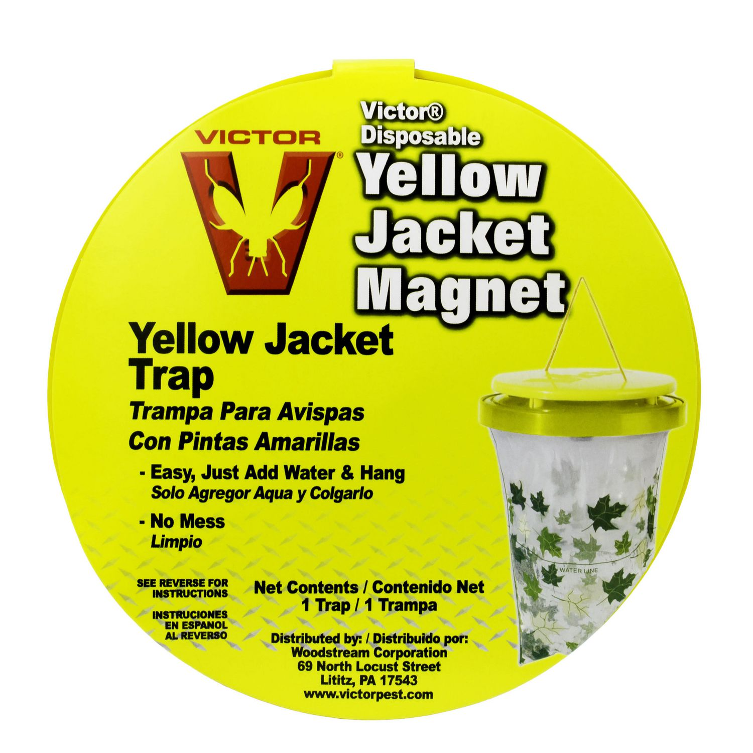 victor poison yellow jacket magnet disposable trap ca