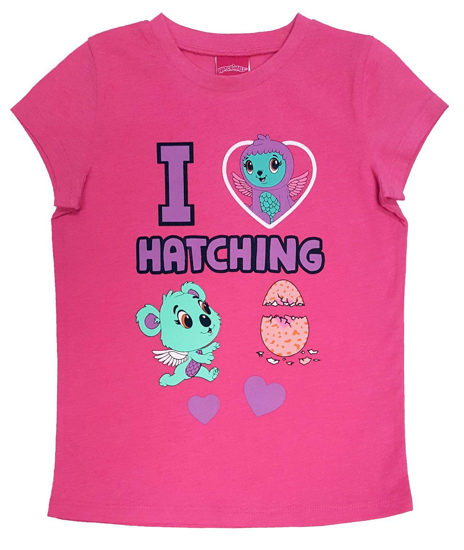 Hatchimals Girls Long Sleeve Tops 100/% Cotton T-Shirts Tees Glitter 2-6 Yrs