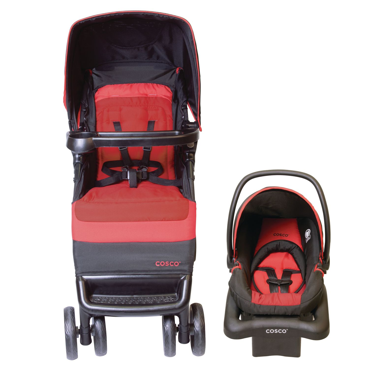 Cosco Simple Fold Travel System - Bright Flame | Walmart ...