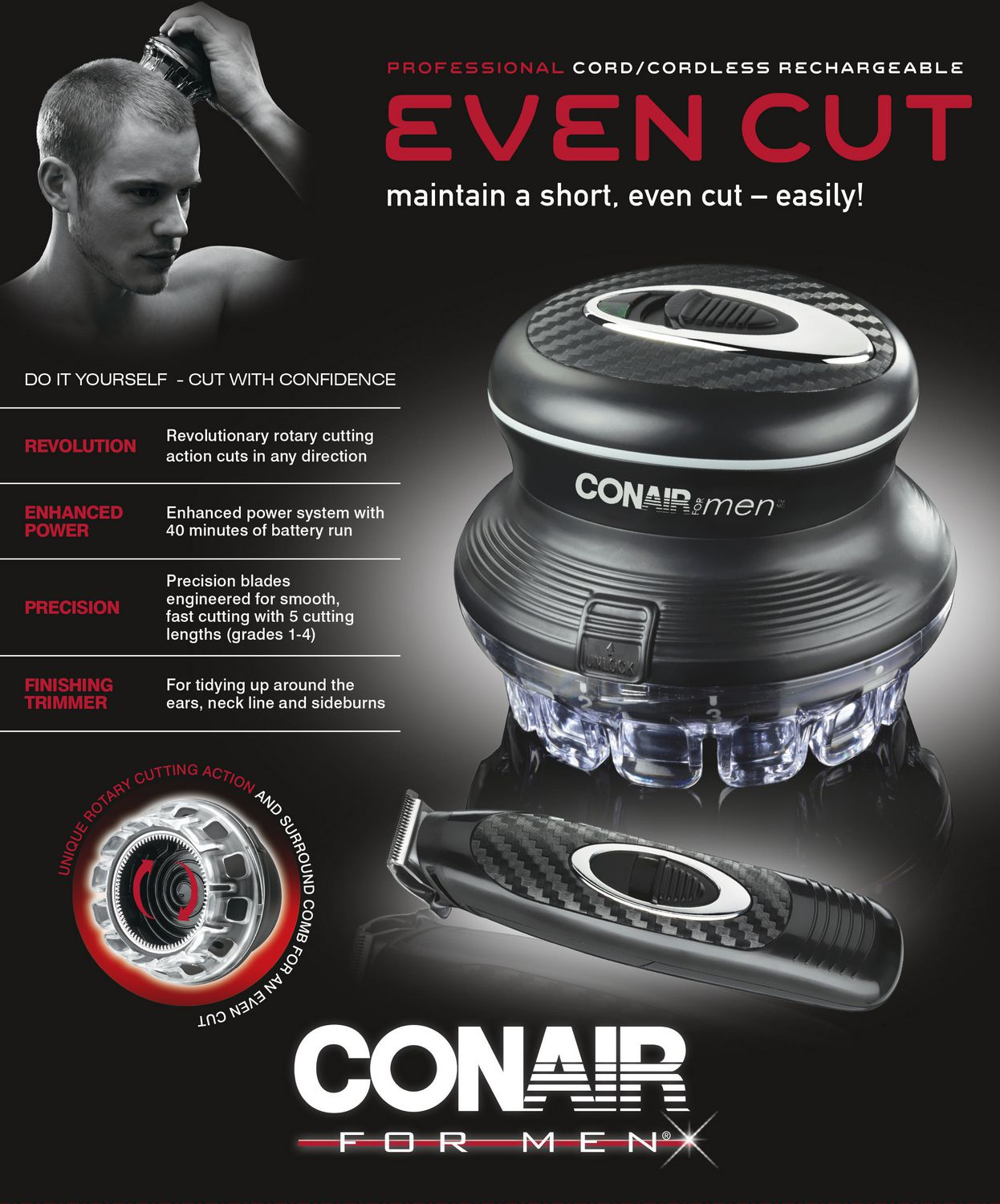 Miraculous Conair Even Cut With Trimmer Walmart Ca Hairstyles For Men Maxibearus