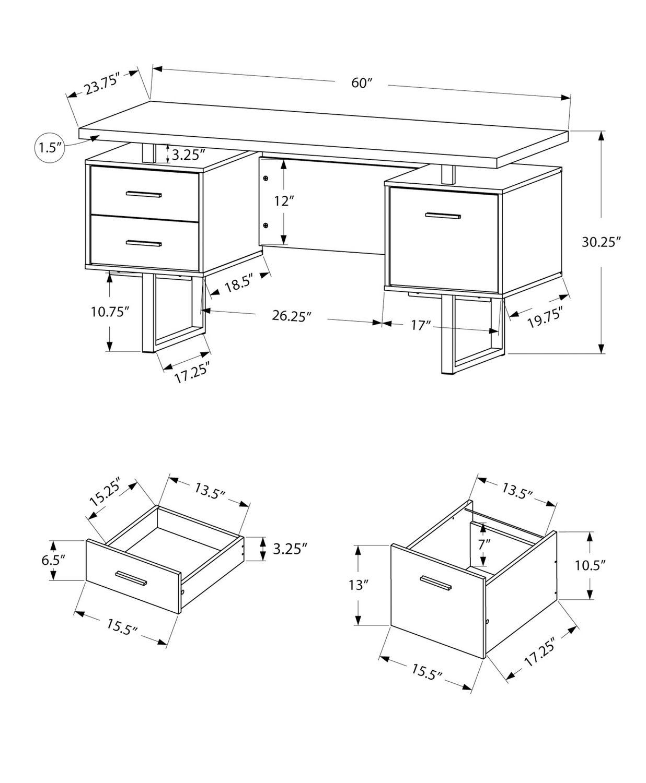 pdp tandy specialties piece desk inc furniture computer corner monarch