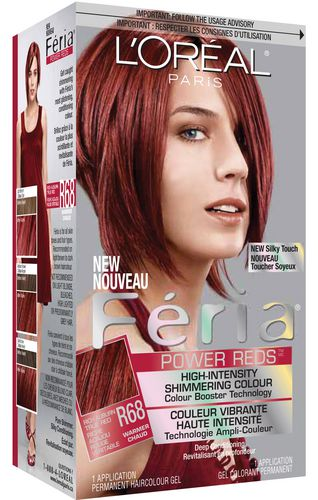 loreal feria r68 rich auburn true red walmartca - Belle Color Acajou