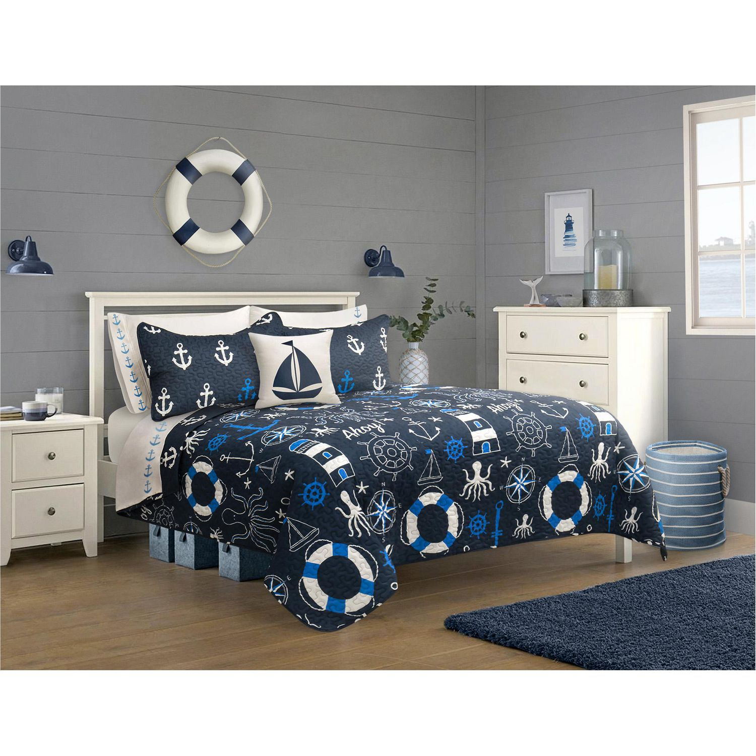Safdie & Co. Quilt 9PC Set DQ Nautical