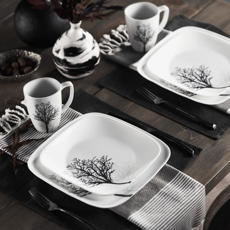 & Corelle® Timber Shadows Dinnerware Set 16pc | Walmart Canada