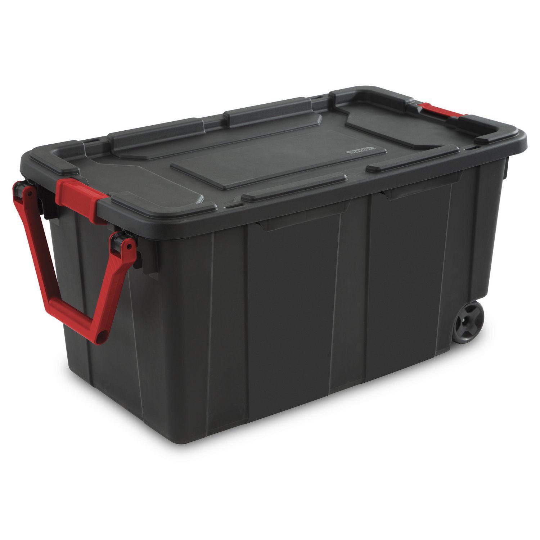 Sterilite 151 Liter Black Wheeled Industrial Tote