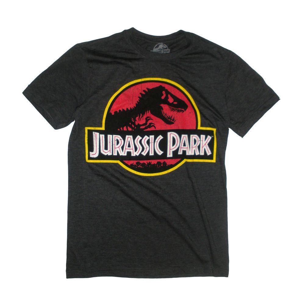 T Shirt Imprime Jurassic Park A Manches Courtes Pour Hommes