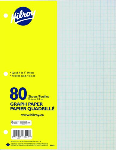 hilroy refill paper graph 80 sheets walmart canada