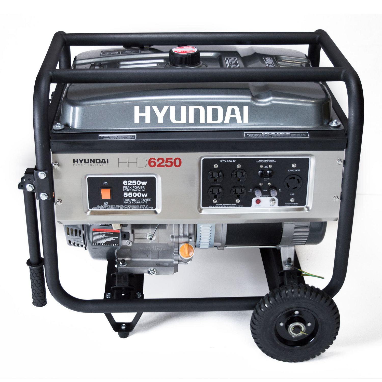 Hyundai HHD6250 6250W Gas Powered Portable Generator