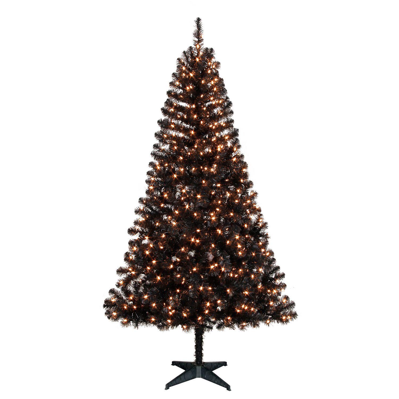 Madison Pine Christmas Tree: Holiday Time Madison™ 6.5' Black Pine Christmas Tree With