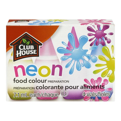Club House Food Colour Preparation 4-Vials | Walmart.ca