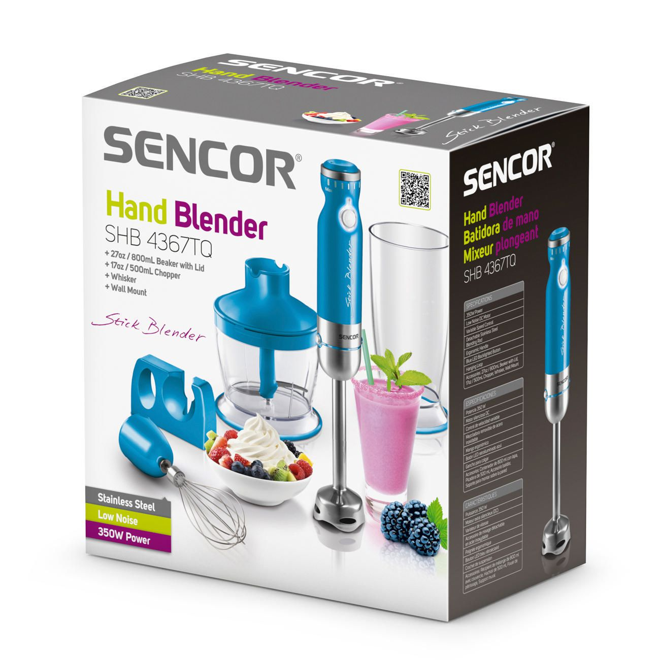 Sencor SHB-4367TQ Stick Hand Blender Set - Turquoise   Walmart Canada