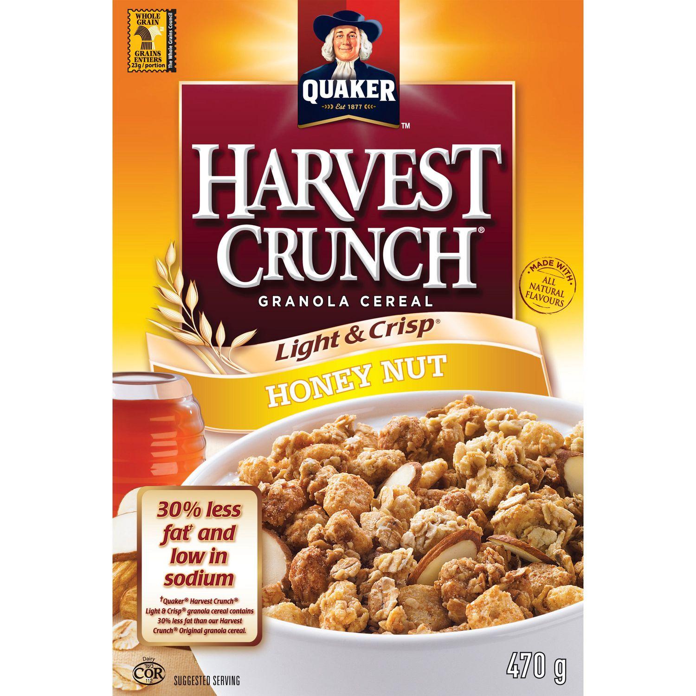 Quaker Harvest Crunch Light & Crisp Honey Nut Granola
