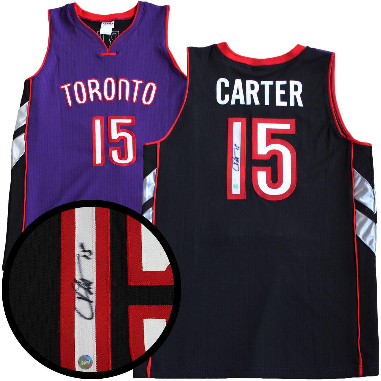 huge selection of 9a540 09d82 Vince Carter Signed Jersey Raptors Replica Purple