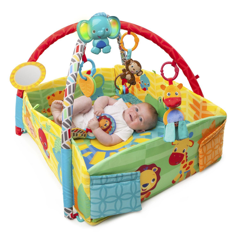 Bright Starts Sunny Safari Babys Play Place Activity Gym