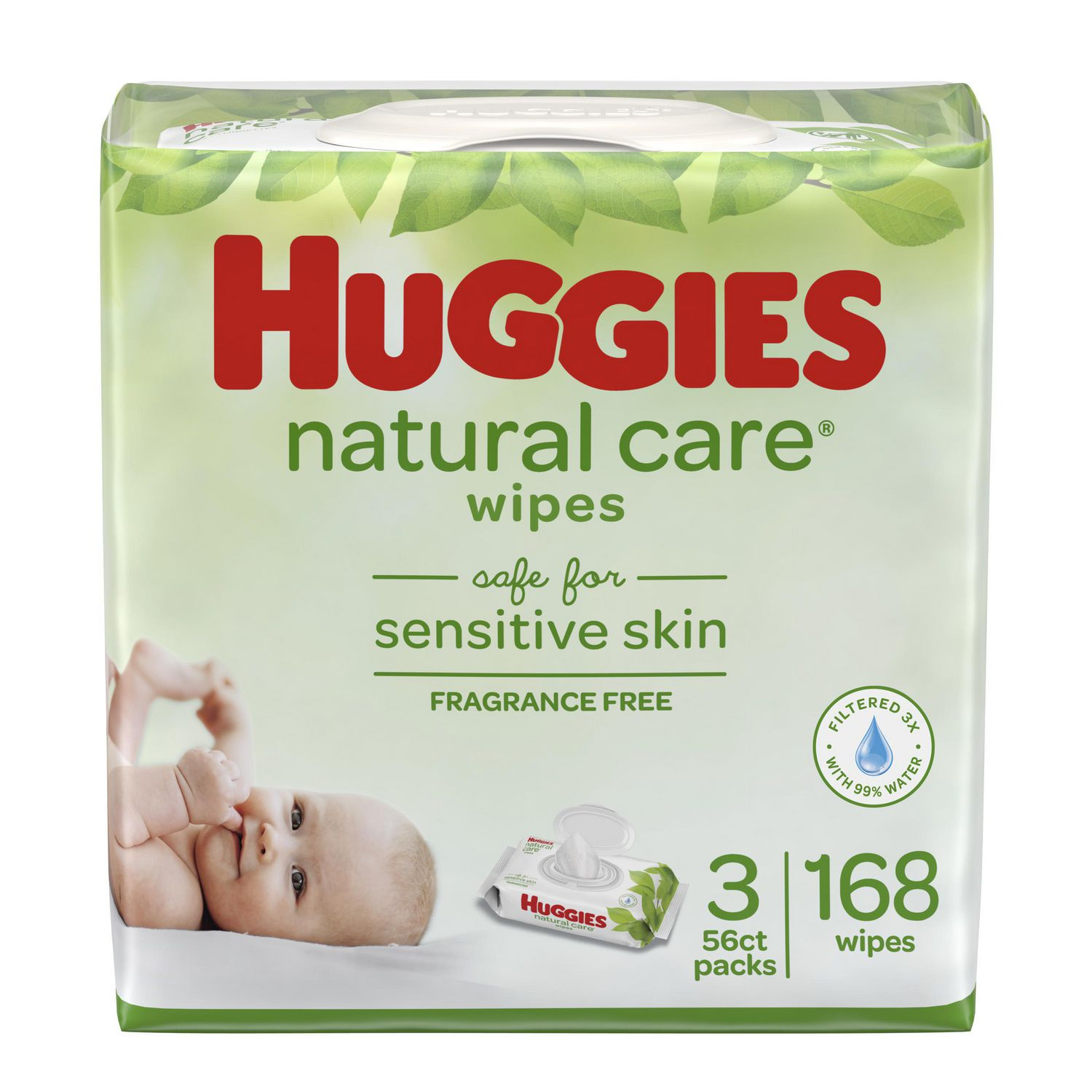 Color//Styles May Vary Huggies Natural Care Baby Wipes Clutch N Clean Carrying Case 32-Count
