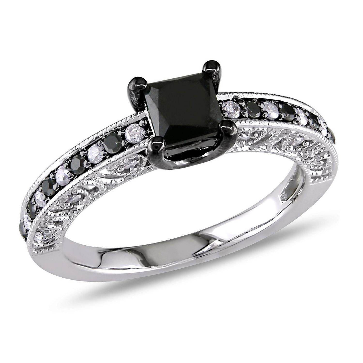 products jewelry ring missesdressy and white rings split shank engagement black diamond br