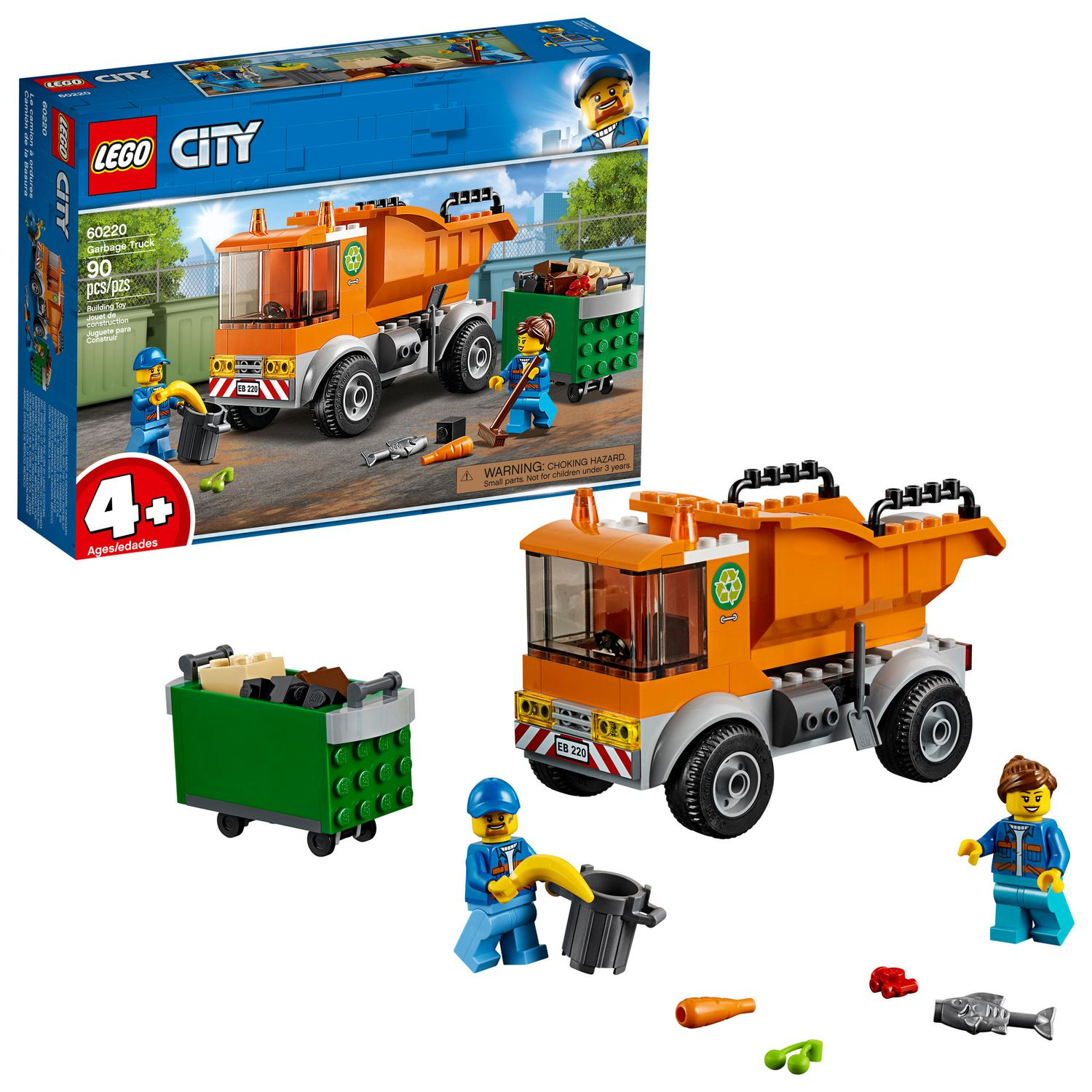 Le Great Camion À Ordures Lego Vehicles City 60220 Yfyb76gv
