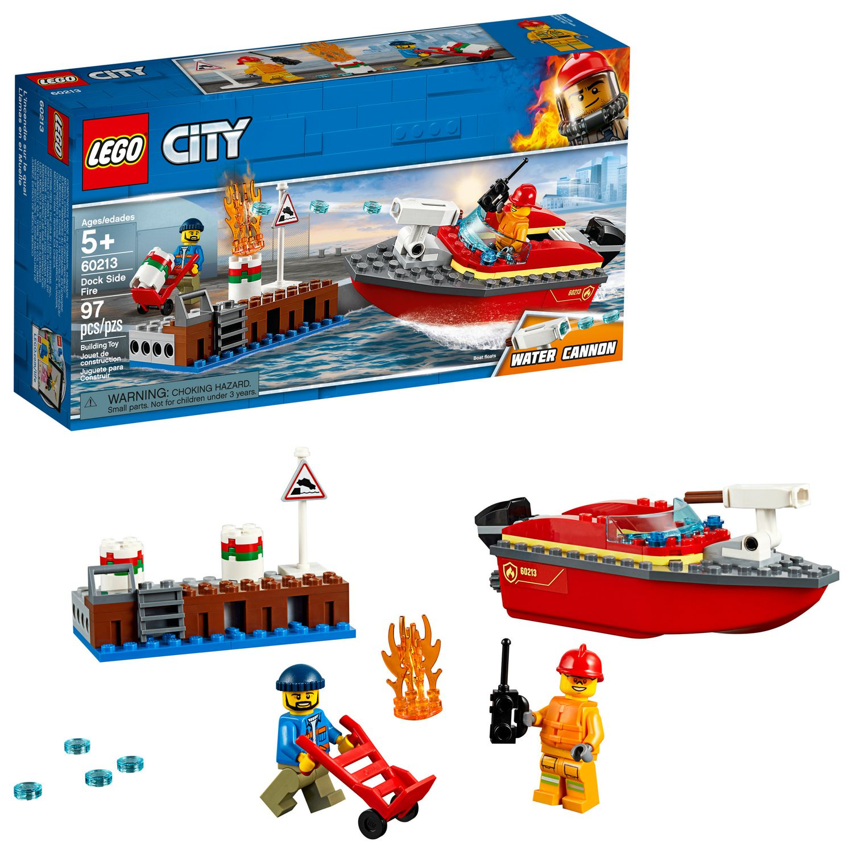 LEGO City Dock Side Fire 60213 Building Kit (97 Piece)