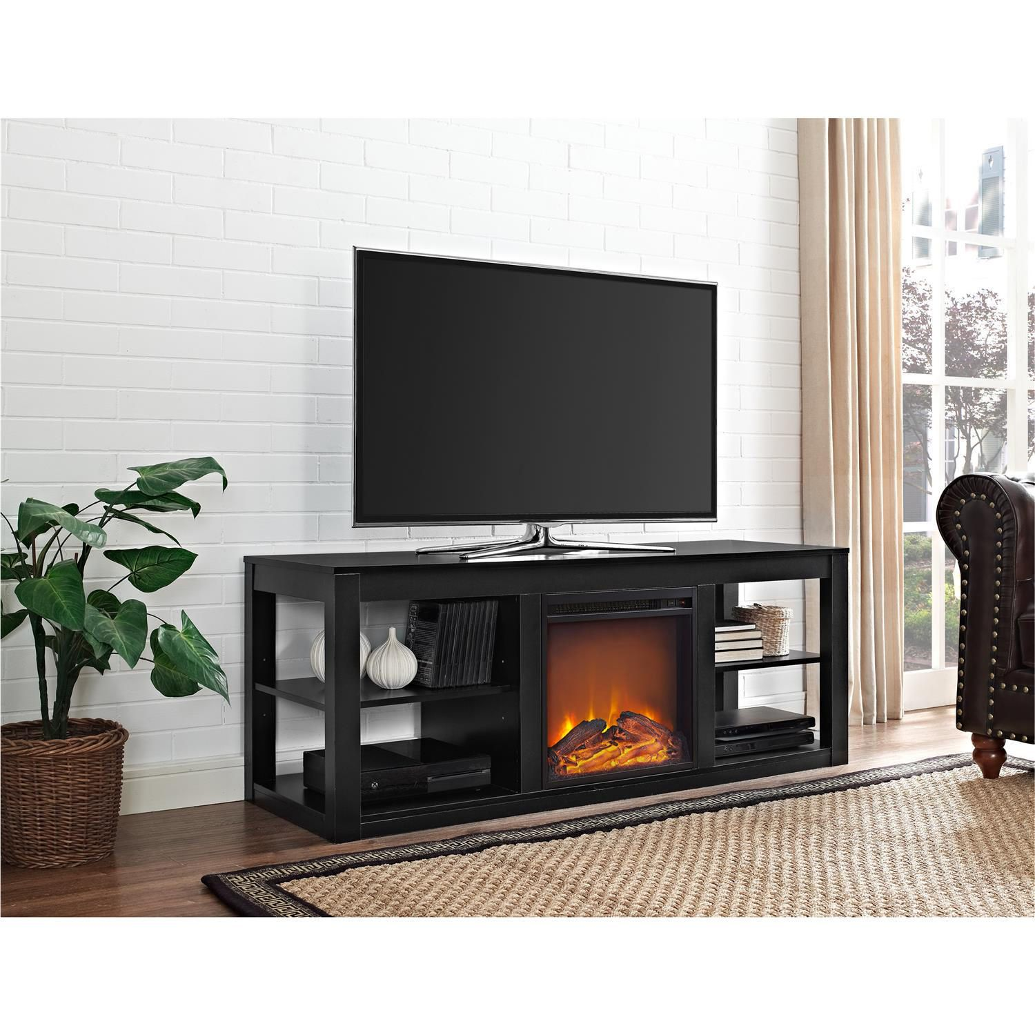 fireplace sale with fireplaces for stand on corner black breathtaking electric tv stands
