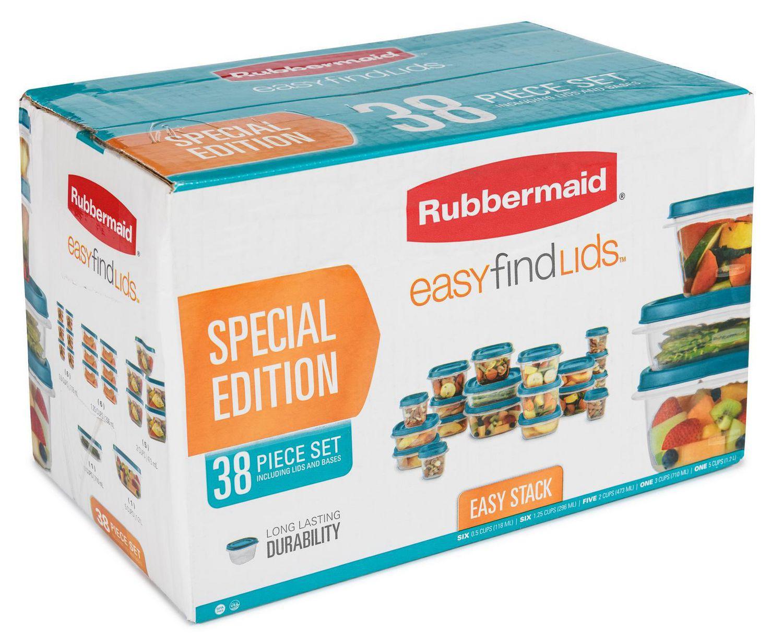 Rubbermaid 38 Piece Easy Find Lids Food Storage Set