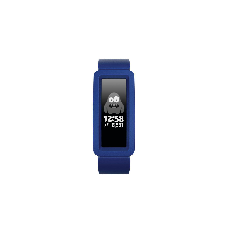 Montre intelligente Fitbit Ace 2 pour enfants avec bracelet en silicone bleu et visage étranger avec affichage numérique de l'heure - meilleur Fitbit pour enfants