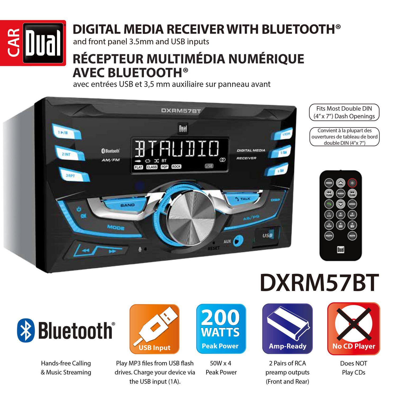Dual Electronics DXRM57BT Multimedia Detachable Mechless