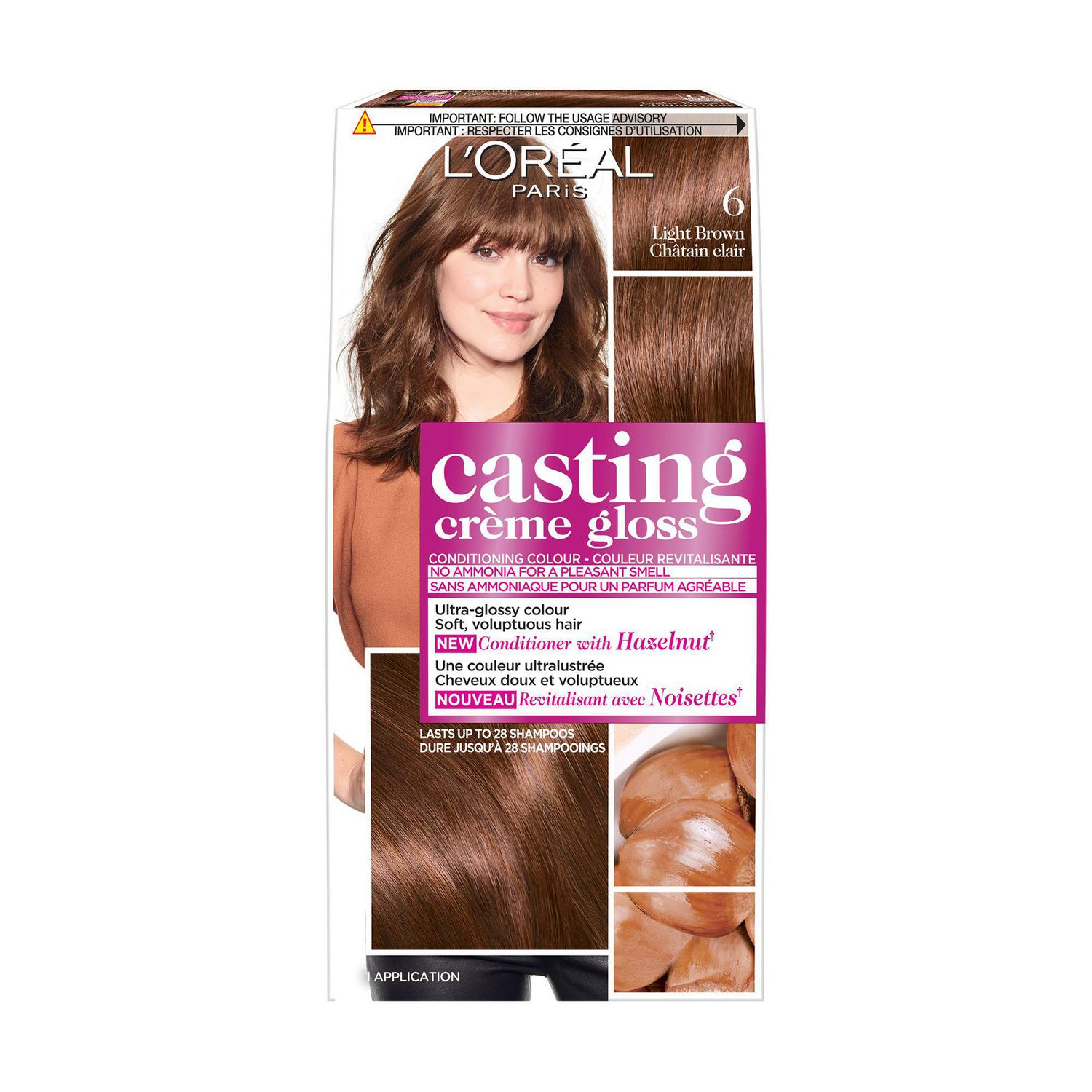 Loral Paris Casting Crme Gloss By Healthy Look Light Brown 6