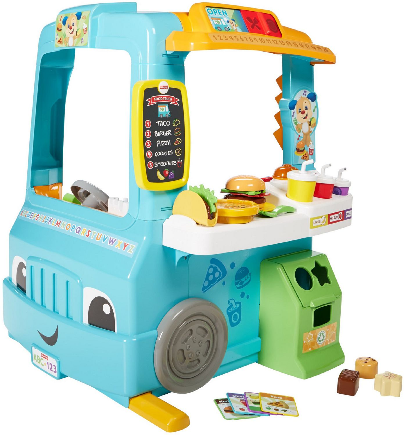 Fisher-Price Laugh & Learn Servin\' Up Fun Food Truck - English ...