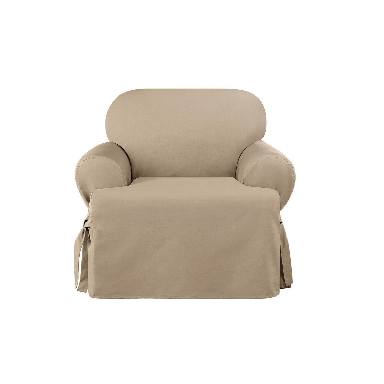 Sure Fit Sailcloth Armchair Slipcover | Walmart Canada