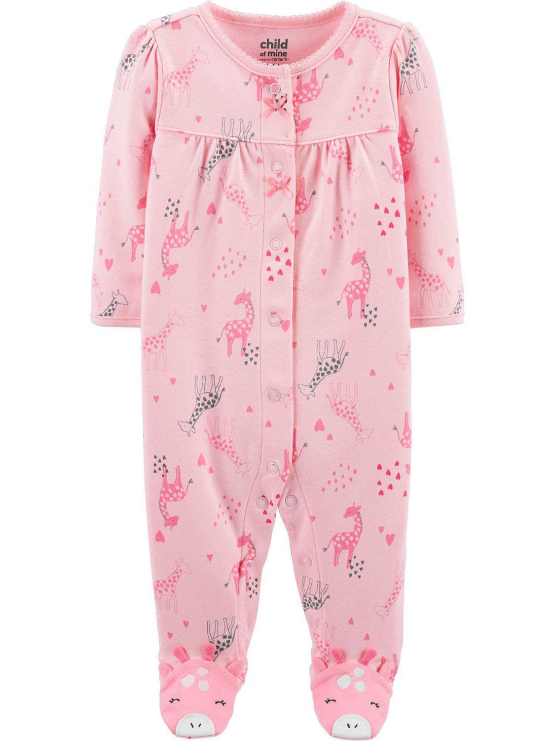 Carters Preemie 2-pk Sleeper Gowns Baby Girl Clothes Pink Bunny