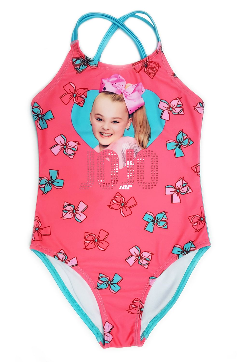 b90f8a39db JoJo Siwa Girls  1 Piece Swimsuit with Sequins - image 1 of 1 zoomed image