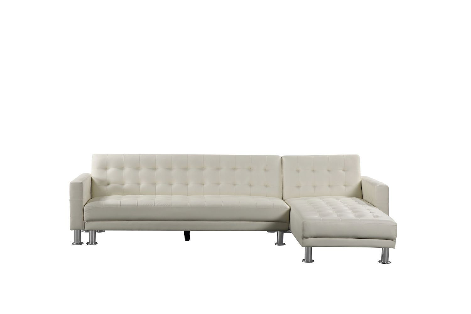 - Velago Attalens Adjustable Faux Leather Sectional Sleeper Sofa