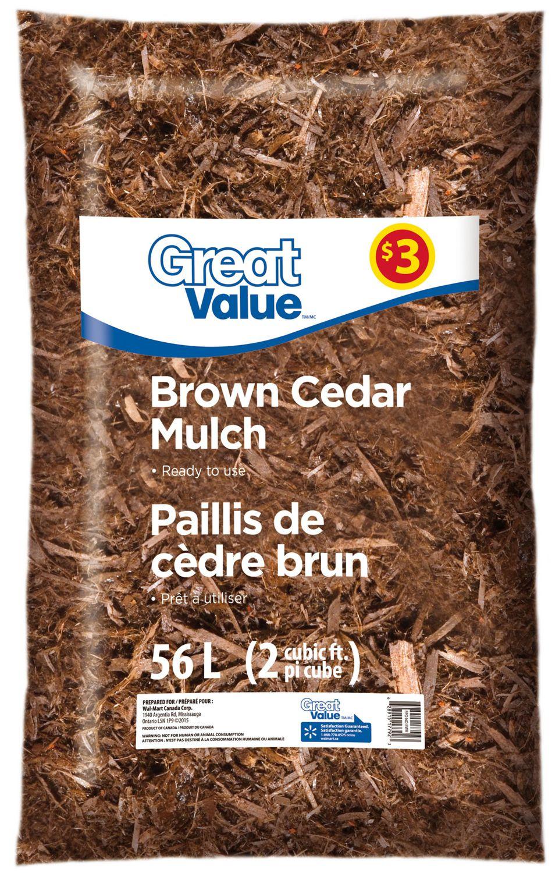 Great Value Brown Cedar Mulch | Walmart Canada