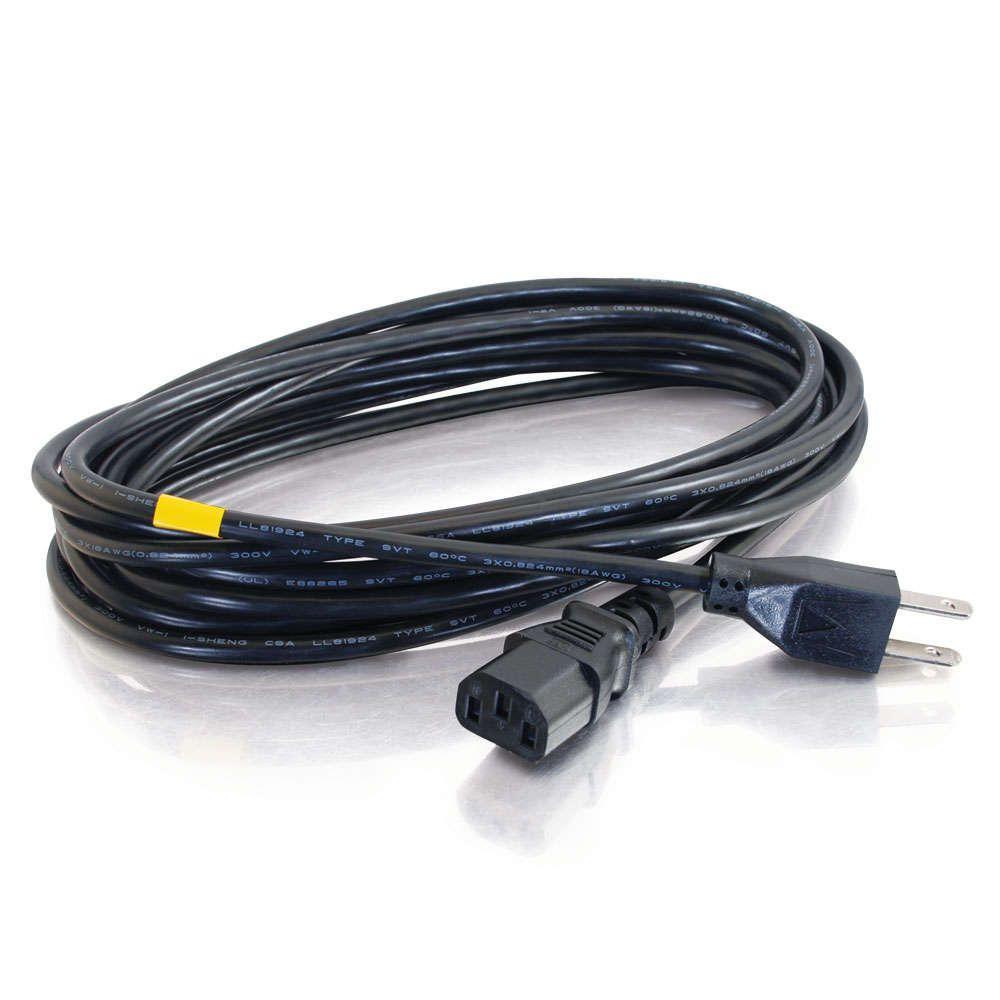15ft 18 Awg Universal Power Cord Nema 5 15p To Iec320c13 Walmart Canada